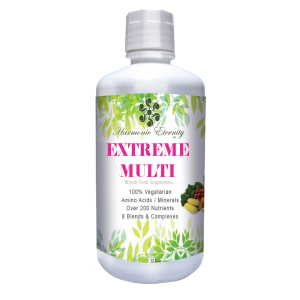 Extreme Multi, all in one liquid multivitamin with minerals,fiber, and over 200 nutrients